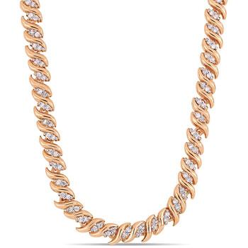 Trang sức Amour Rose mạ Silver 1 CT TDW Kim cương Dây chuyền (vòng cổ) chính hãng sale giá rẻ Hà nội TPHCM