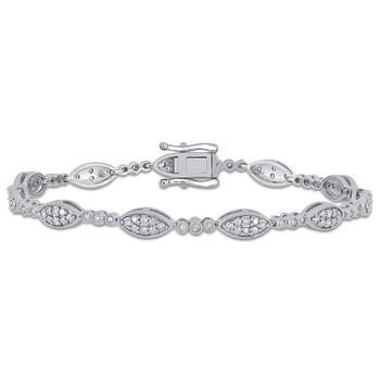 trang sức Amour 1 CT Kim cương TW Vòng đeo tay Silver I3 Length (inches): 7.25 chính hãng sale giá rẻ tại Hà nội TPHCM