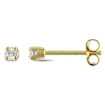 Trang sức Amour Vàng 14K 1/10 CT TDW Kim cương Solitaire Stud Bông tai (khuyên tai
