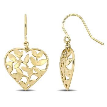 Trang sức Amour Vàng 10K Heart Bông tai (khuyên tai