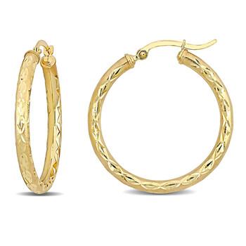 Trang sức Amour Vàng 10K Hoop Bông tai (khuyên tai