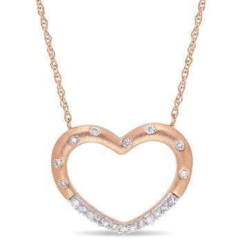 Trang sức Amour Vàng hồng 10K 1/10 CT TDW Kim cương Pendant với Chain chính hãng sale giá rẻ Hà nội TPHCM