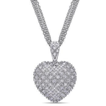 Trang sức Amour Bạc 925 1 CT TDW Kim cương Pendant với Chain chính hãng sale giá rẻ Hà nội TPHCM