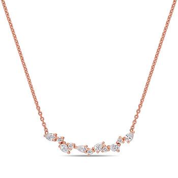 Trang sức Amour Vàng hồng 14K 3/8 CT TDW Kim cương Dây chuyền (vòng cổ) chính hãng sale giá rẻ Hà nội TPHCM