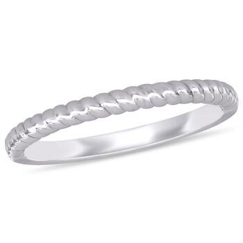 Trang sức Amour Nữ Vàng trắng 14K White 1 Band Nhẫn Size 9 chính hãng sale giá rẻ Hà nội TPHCM