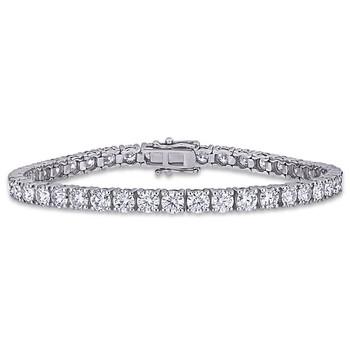 Trang sức Amour Nữ Vàng trắng 14K 9.625 Ct Round Cut White Moissanite Vòng đeo tay chính hãng sale giá rẻ Hà nội TPHCM