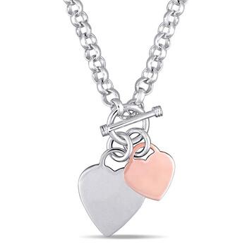 Trang sức Amour Dây chuyền (vòng cổ) Silver 2-tone Toggle Clasp Length (inches): 18 JMS004853 chính hãng sale giá rẻ Hà nội TPHCM