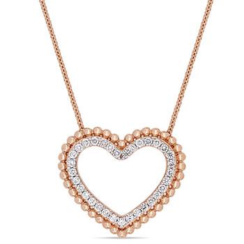 trang sức Amour 1/2 CT Kim cương TW Thời trang Pendant với Chain Vàng hồng 14K GH I1 chính hãng sale giá rẻ tại Hà nội TPHCM
