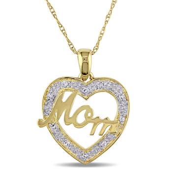 Trang sức Amour 0.05 CT Kim cương TW Thời trang Pendant với Chain Vàng 10K GH I2;I3 JMS005185 chính hãng sale giá rẻ Hà nội TPHCM