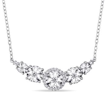 Trang sức Amour 1/6 CT Kim cương TW Dây chuyền (vòng cổ) với Chain Silver GH I2;I3 Length (inches): 17 JMS005195 chính hãng sale giá rẻ Hà nội TPHCM