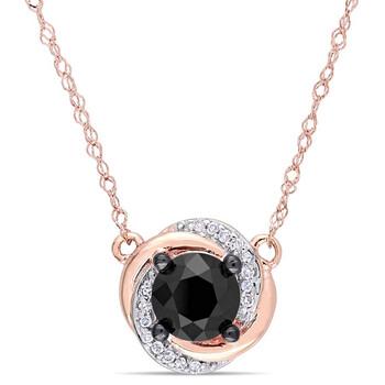 Trang sức Amour 1 CT Đen và Kim cương trắng TW Dây chuyền (vòng cổ) với Chain Vàng hồng 10K GH I2;I3 Length (inches): 17 chính hãng sale giá rẻ Hà nội TPHCM