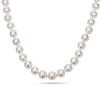 Trang sức Amour 10-13 MM White South Sea Graduated Pearl Strand Dây chuyền (vòng cổ) với Vàng 14K Clasp JMS005496 chính hãng sale giá rẻ Hà nội TPHCM