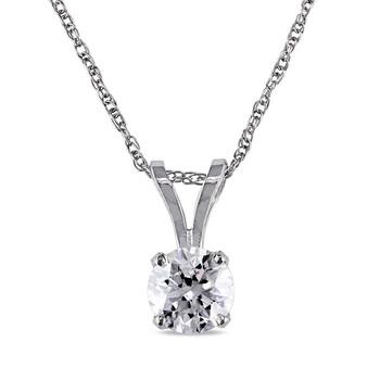 Trang sức Amour 14KW 1/3ct Kim cương Solitaire Pendant w/Chain JMS005643 chính hãng sale giá rẻ Hà nội TPHCM
