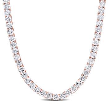 Trang sức Amour mạ Vàng hồng Silver 46-1/3 CT Cubic Zirconia Dây chuyền (vòng cổ) chính hãng sale giá rẻ Hà nội TPHCM