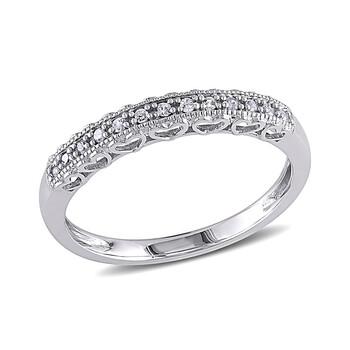 Trang sức Amour 0.08 CT Kim cương TW Nhẫn thời trang Vàng trắng 10K GH I3 chính hãng sale giá rẻ Hà nội TPHCM