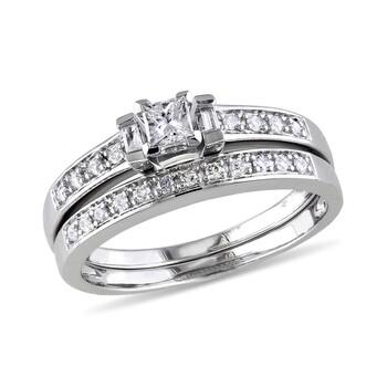 trang sức Amour 1/3 CT Multi-shape Kim cương TW Bridal Set Nhẫn Silver GH I2;I3 chính hãng sale giá rẻ tại Hà nội TPHCM