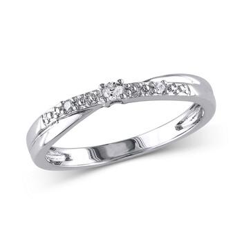 Trang sức Amour 0.05 CT Kim cương TW Nhẫn đính hôn Vàng trắng 10K I2;I3 chính hãng sale giá rẻ Hà nội TPHCM