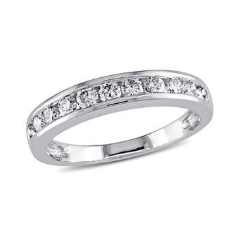 Trang sức Amour 1/2 CT Kim cương TW Eternity Nhẫn Vàng trắng 14K GH I1;I2 chính hãng sale giá rẻ Hà nội TPHCM