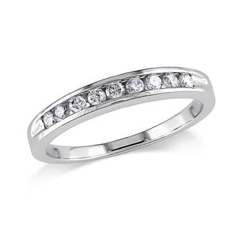 Trang sức Amour 1/4 CT Kim cương TW Eternity Nhẫn Vàng trắng 14K GH I1;I2 chính hãng sale giá rẻ Hà nội TPHCM