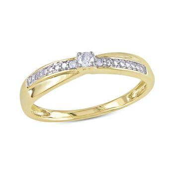 Trang sức Amour 0.05 CT Kim cương TW Nhẫn thời trang Vàng 10K I2;I3 chính hãng sale giá rẻ Hà nội TPHCM
