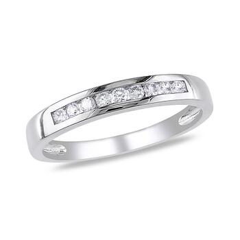 Trang sức Amour 1/5 CT Kim cương TW Eternity Nhẫn Vàng trắng 10K GH I2;I3 chính hãng sale giá rẻ Hà nội TPHCM
