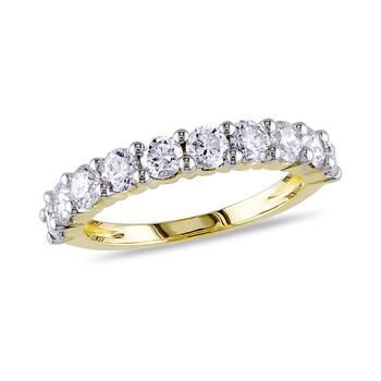 Trang sức Amour 1 1/2 CT Kim cương TW Anniversary Nhẫn Vàng 14K GH I1;I2 Yellow Rhodium mạ chính hãng sale giá rẻ Hà nội TPHCM