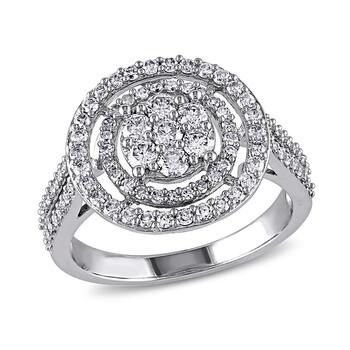 Trang sức Amour 1 CT Kim cương TW Nhẫn thời trang Vàng trắng 10K GH I2;I3 chính hãng sale giá rẻ Hà nội TPHCM