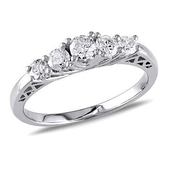 Trang sức Amour 10 Karat Vàng trắng Kim cương Nhẫn đính hôn chính hãng sale giá rẻ Hà nội TPHCM