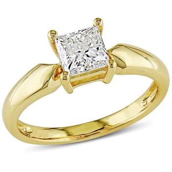 Trang sức Amour 14 Karat Yellow Gold Solitaire Nhẫn đính hôn chính hãng sale giá rẻ Hà nội TPHCM