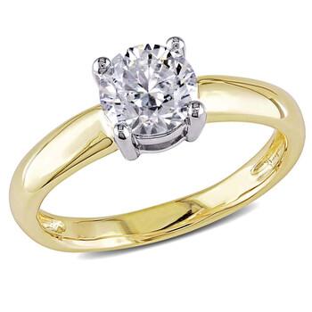 Trang sức Amour 14 Karat White và Yellow Gold Kim cương Solitaire Nhẫn chính hãng sale giá rẻ Hà nội TPHCM