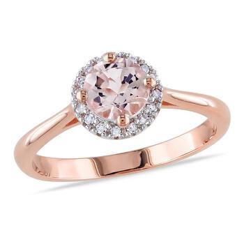 Trang sức Amour Morganite và Kim cương Pink mạ Silver Nhẫn chính hãng sale giá rẻ Hà nội TPHCM