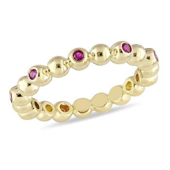 Trang sức Amour Vàng 14K Ruby Beaded Eternity Nhẫn chính hãng sale giá rẻ Hà nội TPHCM