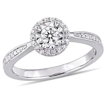 Trang sức Amour 1/3 CT TW Kim cương Halo Nhẫn Bạc 925 chính hãng sale giá rẻ Hà nội TPHCM