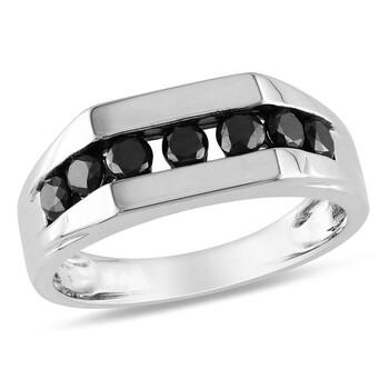 Trang sức Amour Bạc 925 0.98 CT Kim cương đen Nhẫn chính hãng sale giá rẻ Hà nội TPHCM