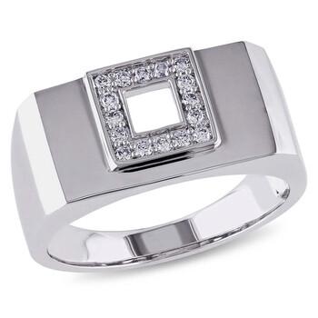 Trang sức Amour Vàng trắng 14K Square Halo 1/5 CT Kim cương Nhẫn chính hãng sale giá rẻ Hà nội TPHCM