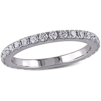 Trang sức Amour 1 1/8 CT TW Kim cương Eternity Nhẫn Vàng trắng 14K JMS004816-0800- chính hãng sale giá rẻ Hà nội TPHCM