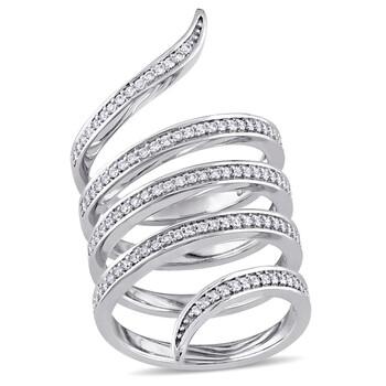 Trang sức Amour 0.54 CT Kim cương TW Nhẫn thời trang Vàng trắng 14K GH SI JMS005608-0600 chính hãng sale giá rẻ Hà nội TPHCM