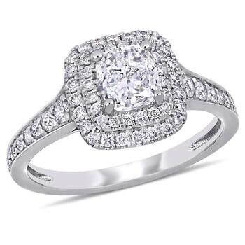 Trang sức Amour 1 1/2 CT TW Kim cương Nhẫn đính hôn w/Cushion Center 1.0ct H-I I2;I3 14kw Gold chính hãng sale giá rẻ Hà nội TPHCM