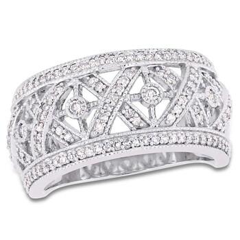 Trang sức Amour 1/2 CT TW Kim cương Filigree Nhẫn Vàng trắng 10K JMS004956 chính hãng sale giá rẻ Hà nội TPHCM