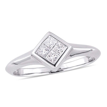 Trang sức Amour 1/4 CT TW Kim cương Promise Nhẫn Vàng trắng 10K JMS005287 chính hãng sale giảm giá sỉ rẻ nhất ở Hà nội TPHCM