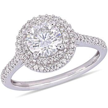 Trang sức Amour 1/3 CT Kim cương TW và 1 CT TGW Created Moissanite-White Nhẫn thời trang Vàng trắng 14K JMS005313 chính hãng sale giá rẻ Hà nội TPHCM