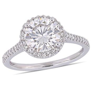 Trang sức Amour 1/4 CT Kim cương TW và 2 CT TGW Created Moissanite-White Nhẫn thời trang Vàng trắng 14K JMS005314 chính hãng sale giá rẻ Hà nội TPHCM