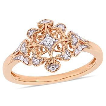Trang sức Amour 1/10 CT Kim cương TW Nhẫn thời trang Vàng hồng 10K JMS005326 chính hãng sale giá rẻ Hà nội TPHCM