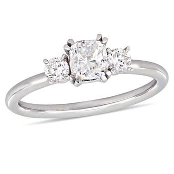 Trang sức Amour 1 CT Cushion và Round Kim cương TW Nhẫn thời trang Vàng trắng 14K JMS005329 chính hãng sale giá rẻ Hà nội TPHCM