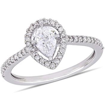 Trang sức Amour 3/4 CT Pear và Round Kim cương TW Nhẫn thời trang Vàng trắng 14K JMS005349 chính hãng sale giảm giá sỉ rẻ nhất ở Hà nội TPHCM