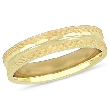 Trang sức Amour Vàng 10K 5 mm Textured Nam Wedding Band JMS005369 chính hãng sale giá rẻ Hà nội TPHCM