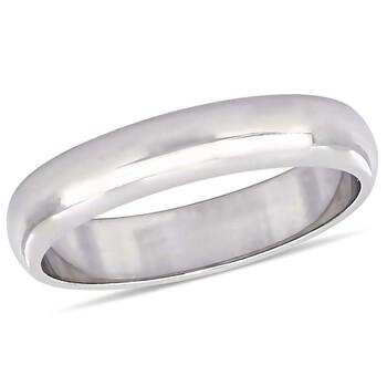 Trang sức Amour Nữ Vàng trắng 10K Wedding Band 4mm JMS005374 chính hãng sale giá rẻ Hà nội TPHCM