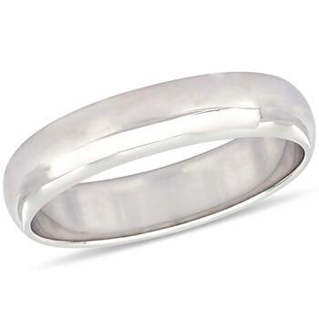 Trang sức Amour Vàng trắng 10K 5 mm Nam Wedding Band JMS005376 chính hãng sale giá rẻ Hà nội TPHCM