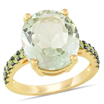 Trang sức Amour 8 CT TGW Green Amethyst Peridot Nhẫn thời trang Yellow Silver Đen Rhodium mạ JMS005406 chính hãng sale giá rẻ Hà nội TPHCM