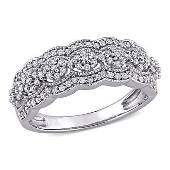 Trang sức Amour Vàng trắng 10K 1/2 CT TDW Kim cương Eternity Nhẫn chính hãng sale giảm giá sỉ rẻ nhất ở Hà nội TPHCM